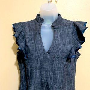 Karlie Mandarin Collar Dress